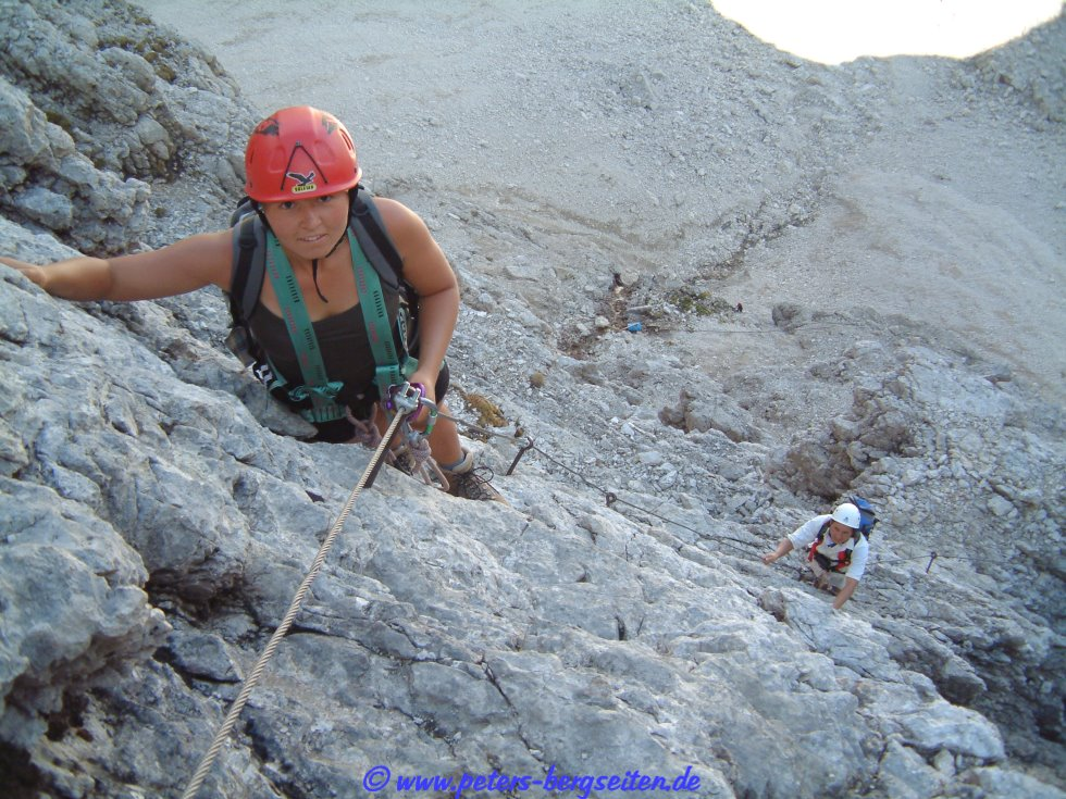 Vallon Klettersteig : Bergstation boe bergbahn umkehr bei vallon