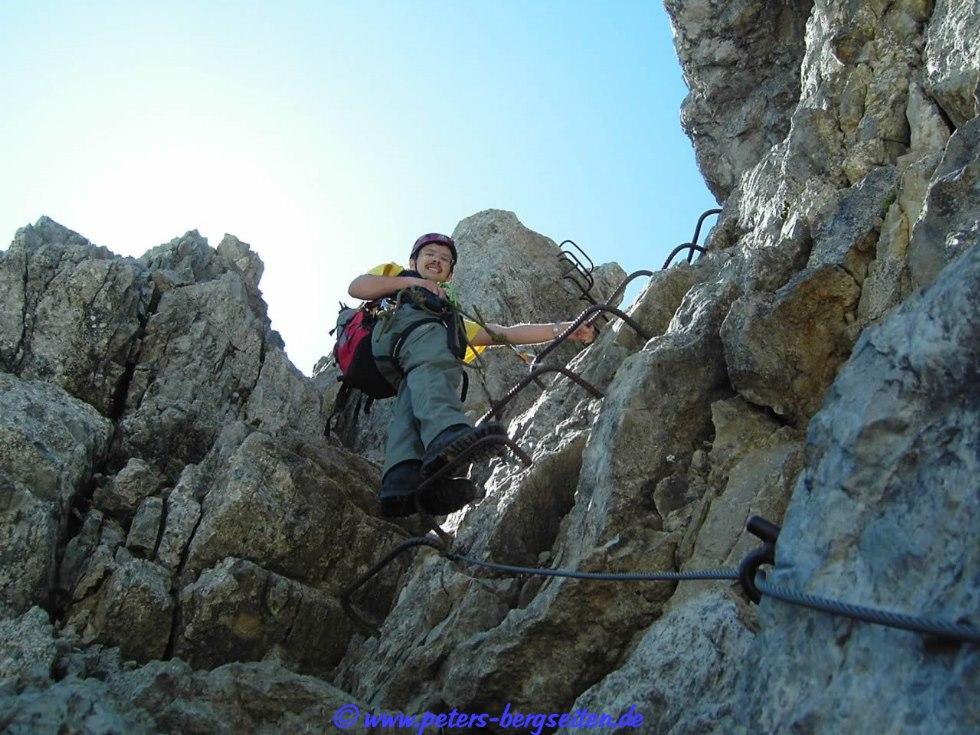 Klettersteig Für Anfänger : Rotwand klettersteig im rosengarten für anfänger