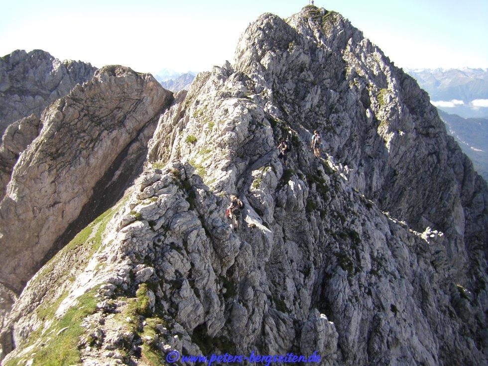 Klettersteig Mittenwald : Peter s bergseiten mittenwalder klettersteig